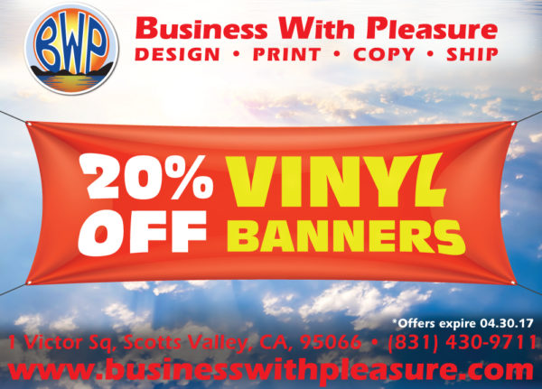 April Special Business With Pleasure - Vinyl business banners